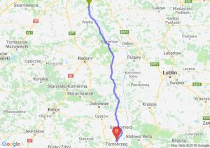 Trasa Góra Kalwaria - Tarnobrzeg