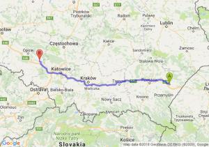 Trasa Jarosław - Strzelce Opolskie