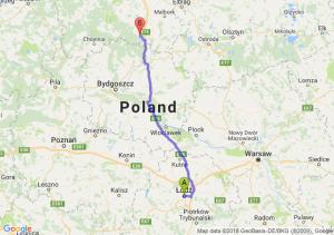 Trasa Łódź - Skórcz