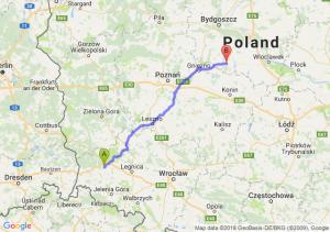 Trasa Bolesławiec - Strzelno