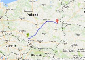 Trasa Dąbrówka Górna - Międzyrzec Podlaski