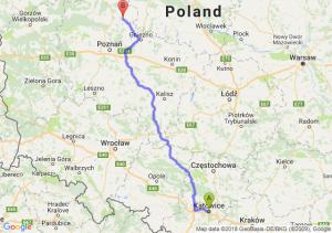 Trasa Katowice - Wągrowiec