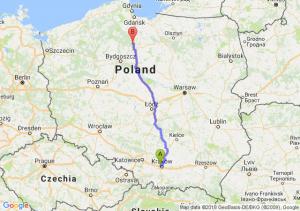 Trasa Bronowice - Warlubie