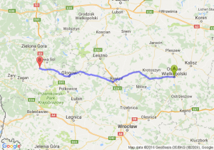 Ostrów Wielkopolski (wielkopolskie) - Kożuchów (lubuskie)