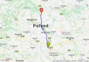 Trasa Aleksandrów Łódzki - Grudziądz