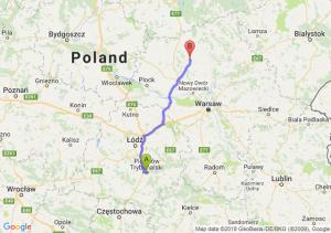 Trasa Piotrków Trybunalski - Ciechanów