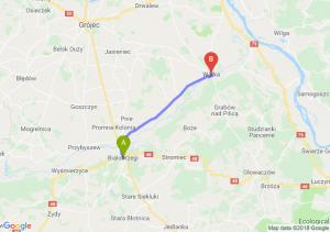 Trasa Białobrzegi - Warka