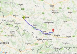 Trasa Biskupice Podgórne - Olkusz