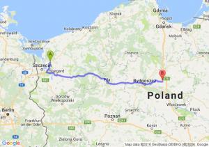 Goleniów (zachodniopomorskie) - Chełmża (kujawsko-pomorskie)