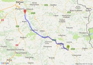 Trasa Piaski - Góra Kalwaria