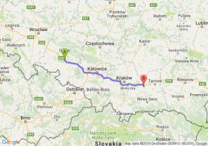 Trasa Dąbrówka Górna - Brzesko