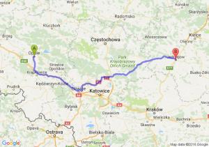 Opole (opolskie) - Jędrzejów (świętokrzyskie)
