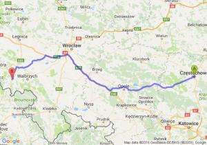 Częstochowa (śląskie) - Kamienna Góra (dolnośląskie)