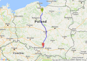 Trasa Kwidzyn - Sosnowiec
