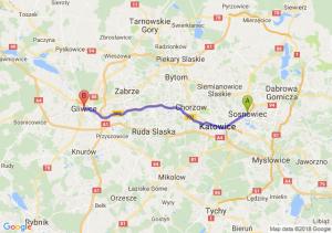 Trasa Sosnowiec - Gliwice