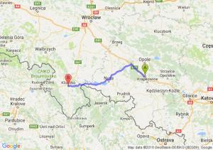 Trasa Dąbrówka Górna - Kłodzko