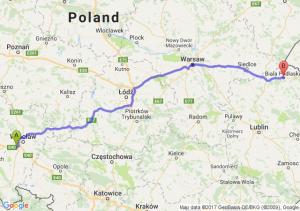 Trasa Biskupice Podgórne - Biała Podlaska