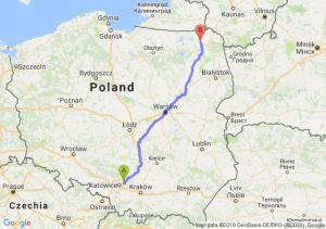 Trasa Dąbrowa Górnicza - Olecko