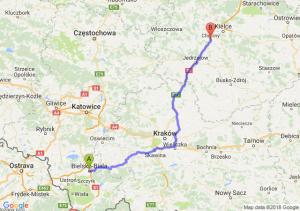 Trasa Bielsko-Biała - Chęciny