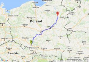 Trasa Dąbrówka Górna - Stawiski