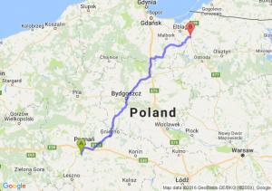 Mosina (wielkopolskie) - Pasłęk (warmińsko-mazurskie)