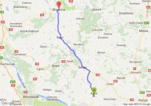 Trasa Bielsk - Brodnica