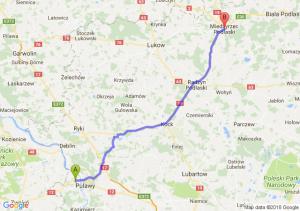 Trasa Bronowice - Międzyrzec Podlaski