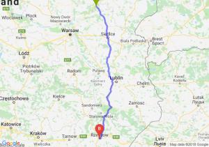 Trasa Ostrów Mazowiecka - Rzeszów