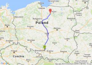 Trasa Sosnowiec - Ostróda