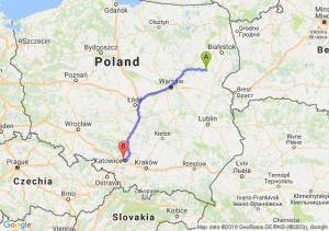 Trasa Ciechanowiec - Chorzów