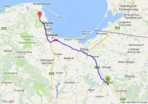 Ostróda (warmińsko-mazurskie) - Reda (pomorskie)