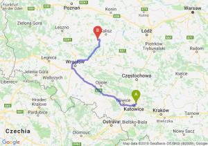 Trasa Sosnowiec - Ostrów Wielkopolski