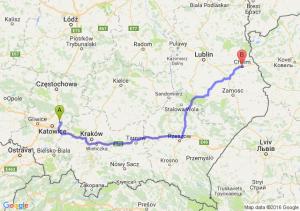 Dąbrowa Górnicza (śląskie) - Chełm (lubelskie)