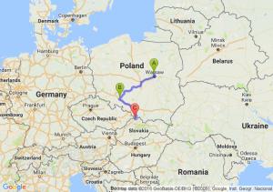 Legionowo  - Brzeg (opolskie) - Zwardoń (śląskie)