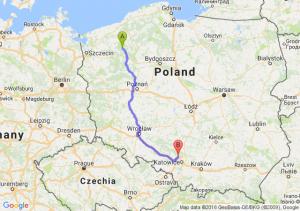 Trasa Czaplinek - Tarnowskie Góry