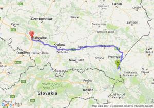 Ustrzyki Dolne (podkarpackie) - Gliwice (śląskie)