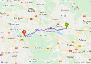 Trasa Pyskowice - Kędzierzyn-Koźle