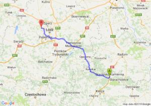 Trasa Skarżysko-Kamienna - Aleksandrów Łódzki