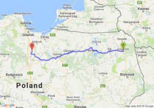 Trasa Augustów - Gniew