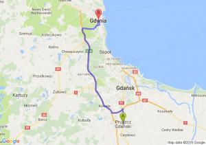 Trasa Pruszcz Gdański - Gdynia