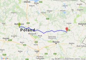 Trasa Brzoza (koło Bydgoszczy) - Ostrów Mazowiecka
