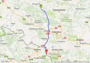 Olesno (opolskie) - Cieszyn (śląskie)