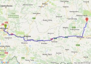 Sosnowiec (śląskie) - Rudnik nad Sanem (podkarpackie)