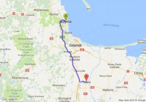 Trasa Gdynia - Tczew