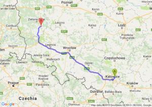 Trasa Będzin - Nowa Sól
