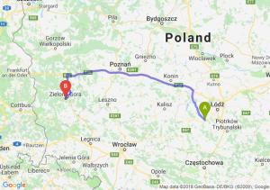 Trasa Łask - Zielona Góra