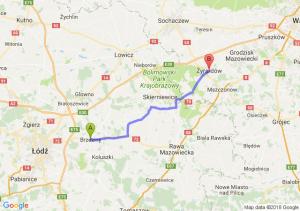 Trasa Brzeziny - Żyrardów