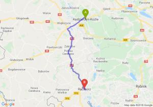Trasa Kędzierzyn-Koźle - Racibórz
