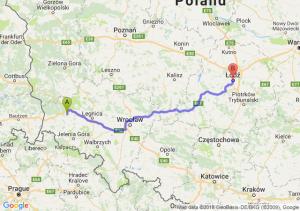 Trasa Bolesławiec - Łódź