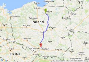 Trasa Ostróda - Dąbrowa Górnicza
